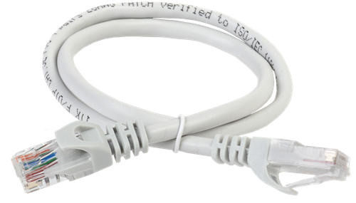 ITK Коммутационный шнур (патч-корд) кат.6А UTP LSZH 0,5м серый - фото 62219