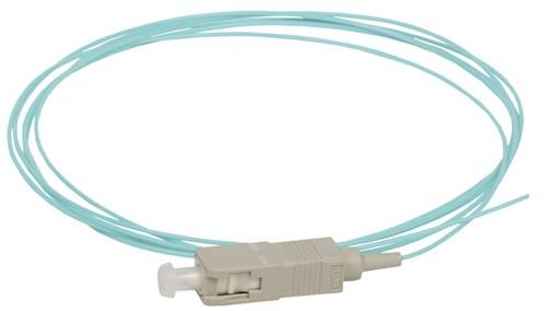 ITK Оптический коммутационный монтажный шнур (пигтеил), (MM), 50/125 (OM3), SC/UPC, LSZH, 1,5м - фото 62234