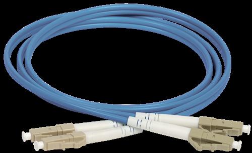 ITK Оптический коммутационный соединительный шнур (патч-корд), MM, 50/125 (OM4), LC/UPC-LC/UPC, (Duplex), 15м - фото 62242