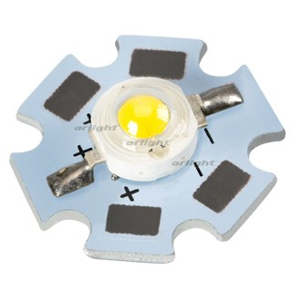 Мощный светодиод ARPL-Star-1W3W-BCB Day White (ARL, STAR type) - фото 62472