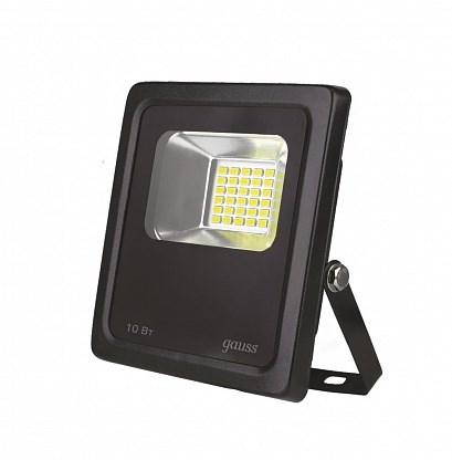 Прожектор Gauss Elementary 10W 850lm 6500К 200-240V IP65 черный LED 1/20 - фото 62504