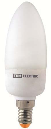 Лампа энергосберегающая КЛЛ-С-9 Вт-2700 К–Е14 TDM - фото 62683