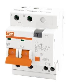 Диф. автомат  2П  40А  300мА  TDM  АД-12 SQ0204-0019 - фото 62862