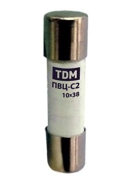 Плавкая вставка ПВЦ-С2 10х38 aR (быстродействующая) 25А TDM - фото 62938