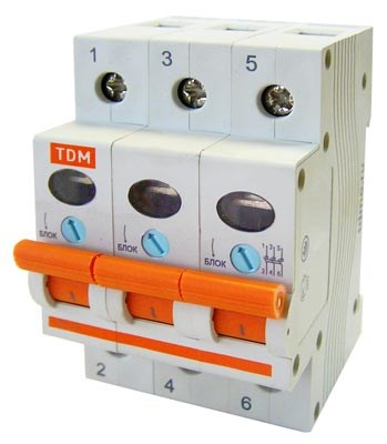 Выкл. Нагрузки  3П  20А  TDM  ВН-32 - фото 62985