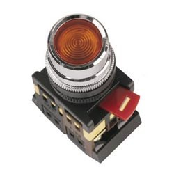 Арм. светосигн. ABLF-22 (красная) неон кнопка 1з+1р d22mm 240B TDM' - фото 63284