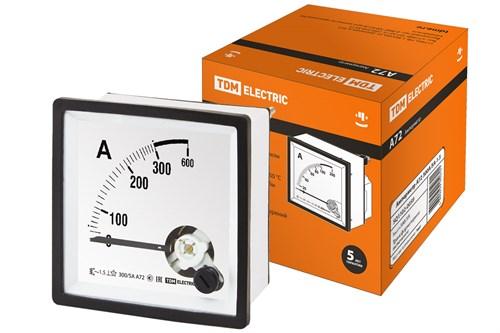 Амперметр  TDM  А72 300А/5А-1.5 - фото 63385