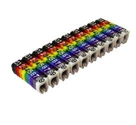 """Маркер для кабеля наборный сечением 4мм2  символ """"0-9""""  SQ0534-0063 TDM  (100шт.) - фото 63717"""