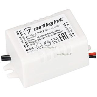 Блок питания ARV-AL24005 (24V, 0.21A, 5W) (ARL, IP20 Пластик, 2 года) - фото 64152