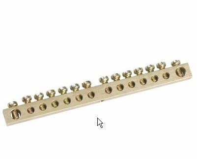 Шина нул. 6х9 (12/2) (12 групп/крепеж по краям) TDM - фото 64217