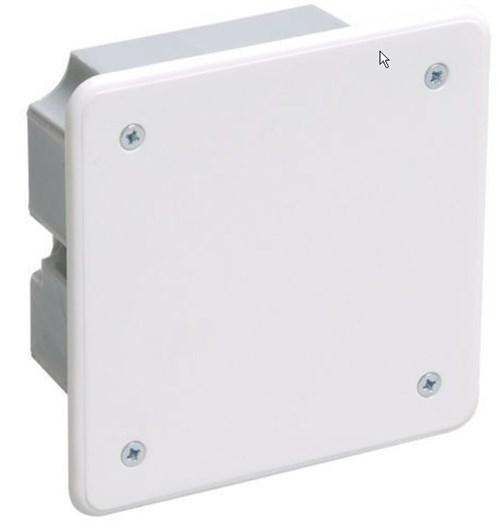 Коробка распаячная КМ41001 92x92x45мм для твердых стен (с саморезами, с крышкой) IEK - фото 64645