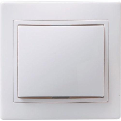 Выключатель 1-клавишный ВС10-1-0-КБ 10А КВАРТА белый IEK - фото 64654