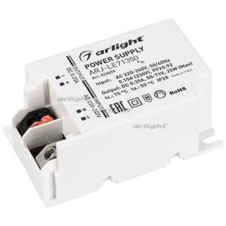 Блок питания ARJ-LE71350 (25W, 350mA, PFC) (ARL, IP20 Пластик, 3 года) - фото 65846