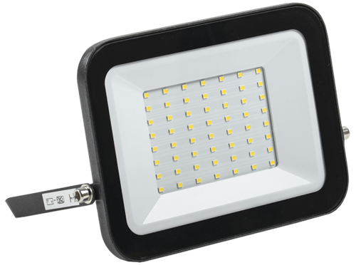 Прожектор светодиодный СДО 06-50 IP65 4000K черный IEK - фото 65907
