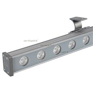Светодиодный прожектор AR-LINE-1000M-24W-24V RGB (Grey, 30 deg, DMX512) (ARL, Закрытый)
