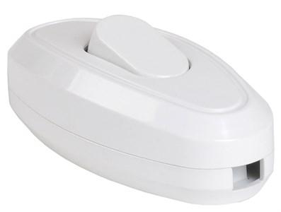 Выключатель 1-клавишный разборный для бра ВБ-01Б белый IEK