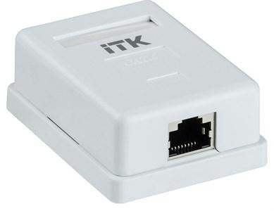 ITK Настенная информационная розетка RJ45 кат.6 FTP 1-порт