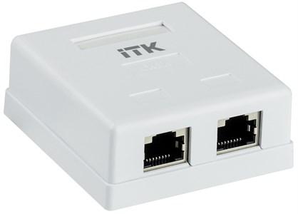 ITK Настенная информационная розетка RJ45 кат.6 FTP 2-порта