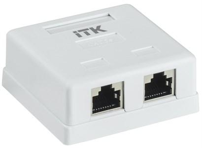 ITK Настенная информационная розетка RJ45 кат.5e FTP 2-порта