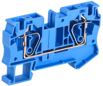 Клемма пружинная КПИ 2в-6 57А синяя IEK
