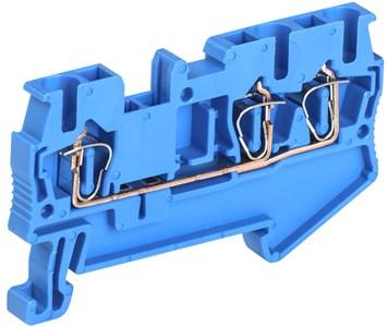 Клемма пружинная КПИ 3в-2,5 3 вывода 31А синяя IEK