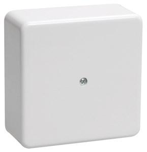 Коробка распаячная КМ для открытой проводки 75х75х28мм белая IEK