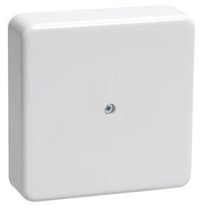 Коробка распаячная КМ для открытой проводки 75х75х20мм белая IEK