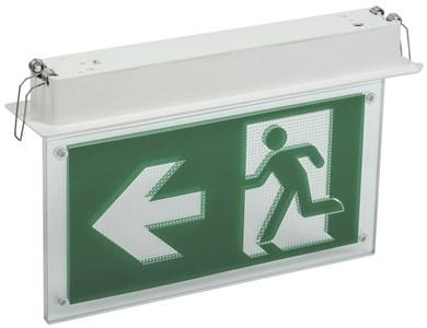 Светильник аварийно-эвакуационный светодиодный встраиваемый ССА3001 двусторонний 3ч 3Вт сменный знак IEK