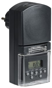 Розетка-таймер электронный РТЭ-3 1мин 7дн 140on/off 16А IP44 IEK