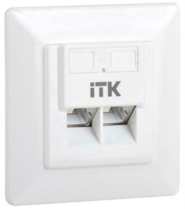 ITK Внутренняя информационная розетка RJ45 кат.6 FTP 2 порта