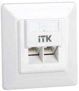 ITK Внутренняя информационная розетка RJ45 кат.5E UTP 2 порта