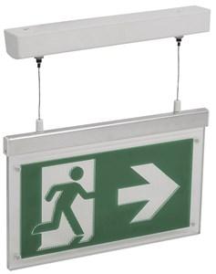 Светильник аварийно-эвакуационный светодиодный подвесной ССА3002 двусторонний 3ч 3Вт сменный знак IEK