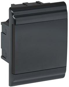 Корпус модульный пластиковый встраиваемый ЩРВ-П-4 PRIME черный IP41 IEK