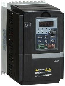 Преобразователь частоты A650 380В 3Ф 3,7кВт 9,5А со встроенным тормозным модулем ONI