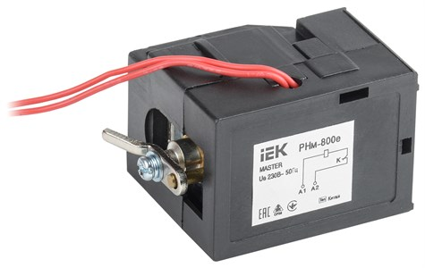Расцепитель независимый РНм-800е (РНм-40) 220В для ВА88-40 MASTER с электронным расцепителем IEK
