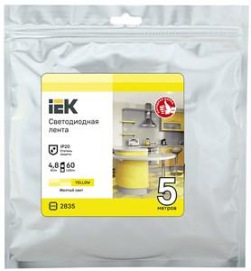 Лента светодиодная 5м LSR-2835Y60-4,8-IP20-12В IEK