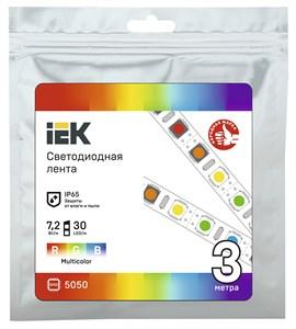 Лента светодиодная 3м LSR-5050RGB30-7,2-IP65-12В IEK