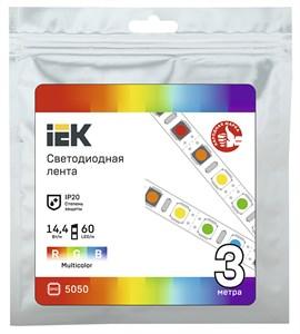 Лента светодиодная 3м LSR-5050RGB60-14,4-IP20-12В IEK