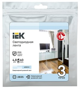 Лента светодиодная 3м LSR-2835W60-4,8-IP20-12В IEK