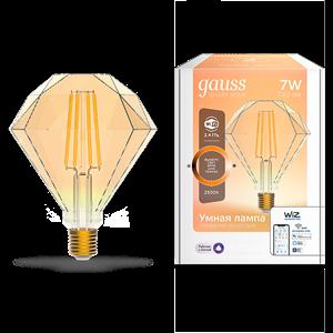 Лампа Gauss Smart Home Filament Diamond 7W 740lm 2500К E27 диммируемая LED 1/40
