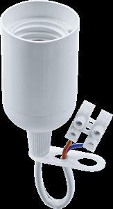 Navigator  NLH-P-F-WH-E27-TB пластиковый белый с КЗВ (с клемной колодкой) 71 287