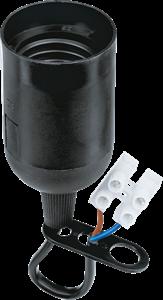 Navigator  NLH-P-F-BL-E27-TB пластиковый черный с КЗВ (с клемной колодкой)  71 288