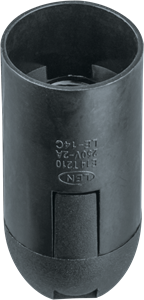 Navigator NLH-PL-E14-BL   патрон пластик подвесной черный Е14  61 348