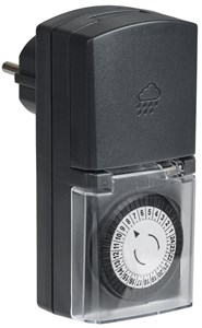 Розетка-таймер механический РТМ-4 30мин 24ч 48on/off 16А IP44 IEK