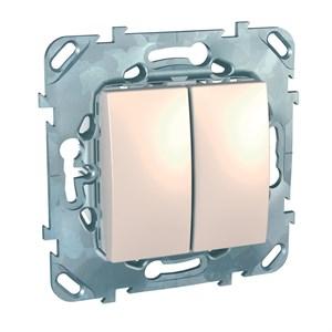 SCH  Unica   Беж.  Выкл. 2-кл. (схема5) IP20 СП MGU5.211.25ZD (вывод из продажи)