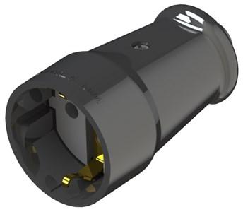 Розетка штепсельная NE-AD c заземлением, 16А, 250В, цвет черный
