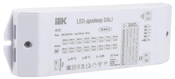 LED-драйвер DALI 42Вт 250-1000мА 8-52В IEK