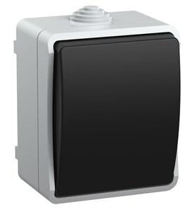 Выключатель 1-клавишный для открытой установки ВС20-1-0-ФСр ФОРС IP54 IEK