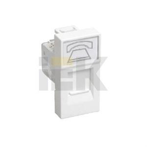 Розетка телефонная РКФ-10-00-П RJ-11 кат.3 (на 1 модуль) ПРАЙМЕР белая IEK
