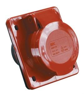 Розетка стационарная скрытая ССИ-414 3Р+Е 16А 380-415В IP44 IEK